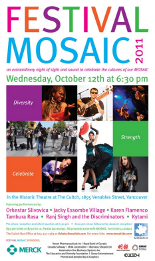 Festival MOSAIC 2011 poster