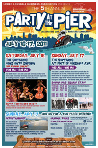 Party at the Pier 2011 poster